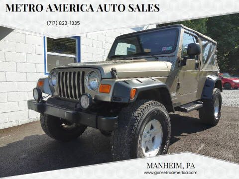 2004 Jeep Wrangler for sale at METRO AMERICA AUTO SALES of Manheim in Manheim PA
