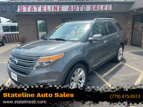 2012 Ford Explorer for sale at Stateline Auto Sales in South Beloit IL