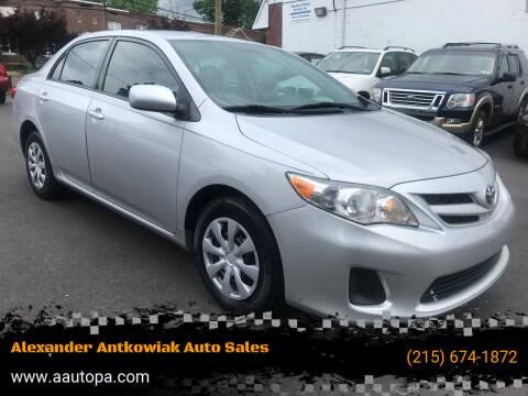 2011 Toyota Corolla for sale at Alexander Antkowiak Auto Sales in Hatboro PA