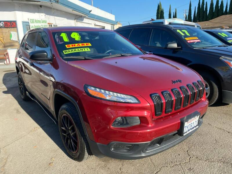 2014 Jeep Cherokee for sale at CAR GENERATION CENTER, INC. in Los Angeles CA
