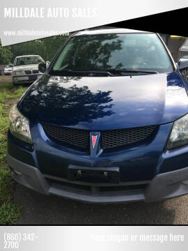 2004 Pontiac Vibe for sale at MILLDALE AUTO SALES in Portland CT