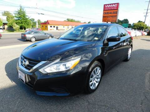 2016 Nissan Altima for sale at Cars 4 Less in Manassas VA