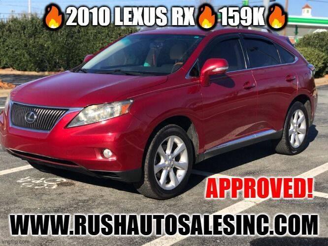 2010 Lexus RX 350 for sale at RUSH AUTO SALES in Burlington NC