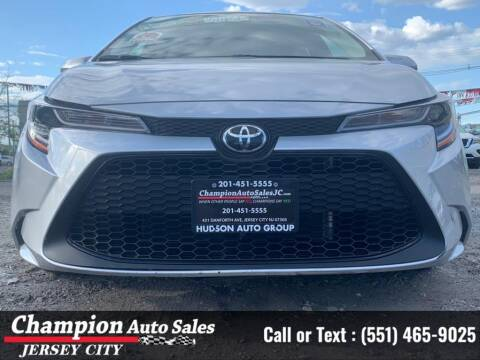 2020 Toyota Corolla for sale at CHAMPION AUTO SALES OF JERSEY CITY in Jersey City NJ