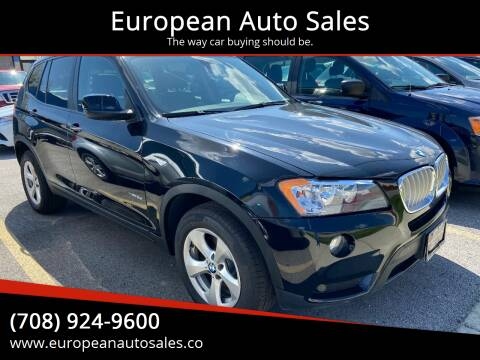 2012 BMW X3 for sale at European Auto Sales in Bridgeview IL