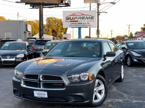 2014 Dodge Charger for sale at Supreme Auto Sales in Chesapeake VA