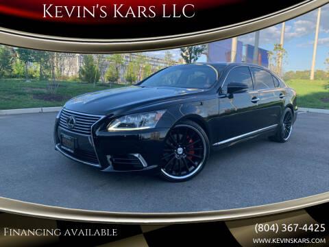 2013 Lexus LS 460 for sale at Kevin's Kars LLC in Richmond VA