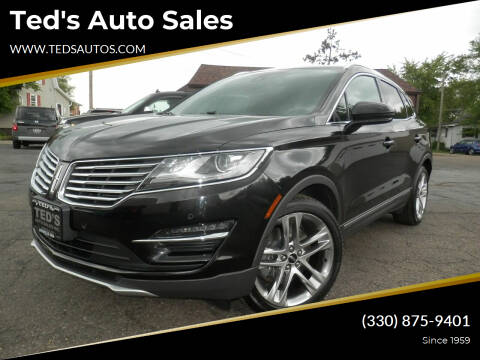2015 Lincoln MKC for sale at Ted's Auto Sales in Louisville OH