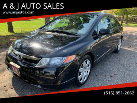 2007 Honda Civic for sale at A & J AUTO SALES in Eagle Grove IA