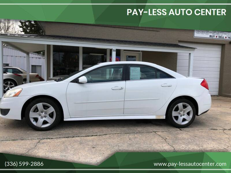 2010 Pontiac G6 for sale at Pay-Less Auto Center-Burlington Road in Roxboro NC