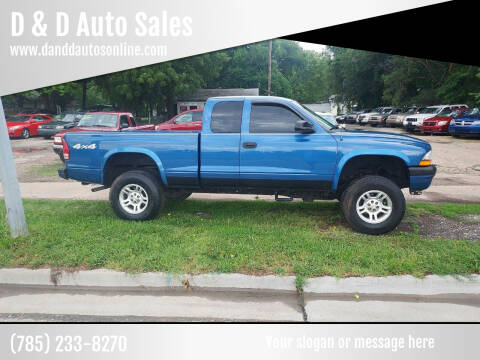 2004 Dodge Dakota for sale at D & D Auto Sales in Topeka KS