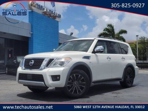 2017 Nissan Armada for sale at Tech Auto Sales in Hialeah FL