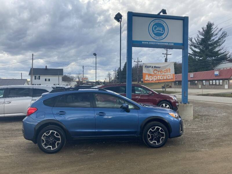 2017 Subaru Crosstrek for sale at Corry Pre Owned Auto Sales in Corry PA