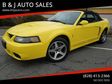 2003 Ford Mustang SVT Cobra for sale at B & J AUTO SALES in Morganton NC