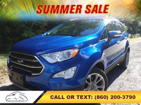 2018 Ford EcoSport for sale at EAGLEVILLE MOTORS LLC in Storrs Mansfield CT