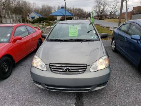 2004 Toyota Corolla for sale at The Back Lot in Lebanon PA