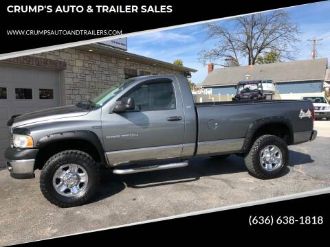 2005 Dodge Ram Pickup 2500 for sale at CRUMP'S AUTO & TRAILER SALES in Crystal City MO