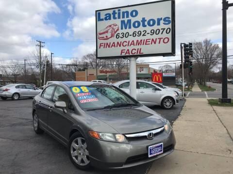 2008 Honda Civic for sale at Latino Motors in Aurora IL