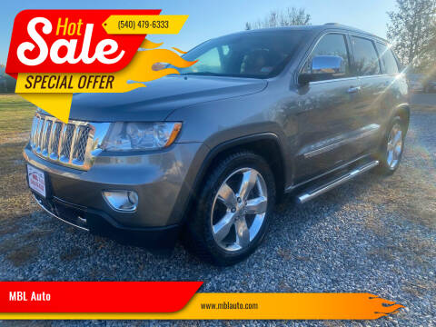 2012 Jeep Grand Cherokee for sale at MBL Auto in Fredericksburg VA