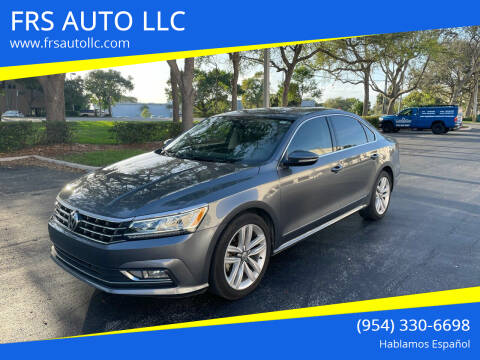 2017 Volkswagen Passat for sale at FRS AUTO LLC in West Palm Beach FL