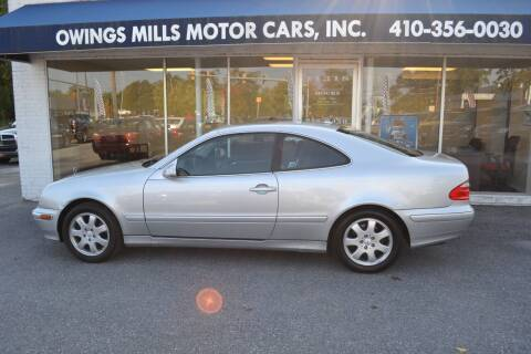 2001 Mercedes-Benz CLK for sale at Owings Mills Motor Cars in Owings Mills MD
