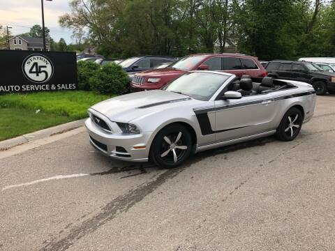 2014 Ford Mustang for sale at Station 45 Auto Sales Inc in Allendale MI