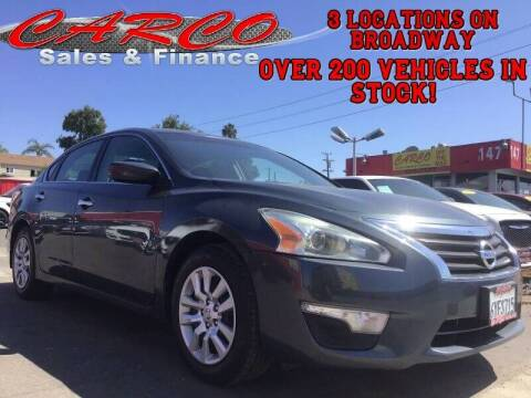 2013 Nissan Altima for sale at CARCO SALES & FINANCE in Chula Vista CA