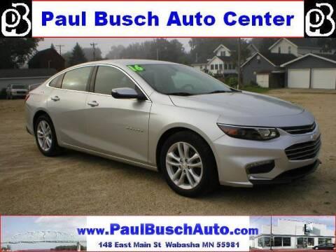 2016 Chevrolet Malibu for sale at Paul Busch Auto Center Inc in Wabasha MN