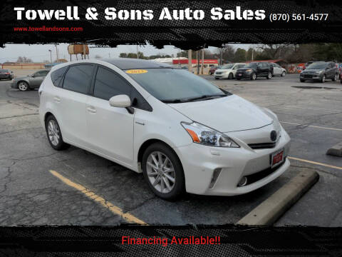 2013 Toyota Prius v for sale at Towell & Sons Auto Sales in Manila AR