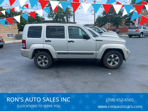 2008 Jeep Liberty for sale at RON'S AUTO SALES INC in Cicero IL