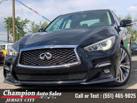 2018 Infiniti Q50 for sale at CHAMPION AUTO SALES OF JERSEY CITY in Jersey City NJ