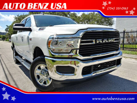 2019 RAM Ram Pickup 2500 for sale at AUTO BENZ USA in Fort Lauderdale FL