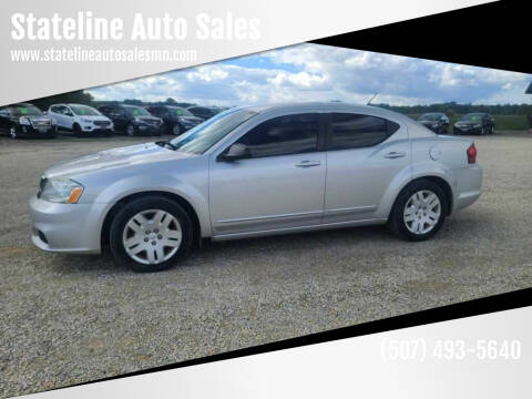 2011 Dodge Avenger for sale at Stateline Auto Sales in Mabel MN