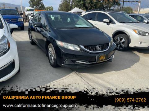 2015 Honda Civic for sale at CALIFORNIA AUTO FINANCE GROUP in Fontana CA