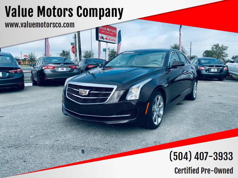 2016 Cadillac ATS for sale at Value Motors Company in Marrero LA