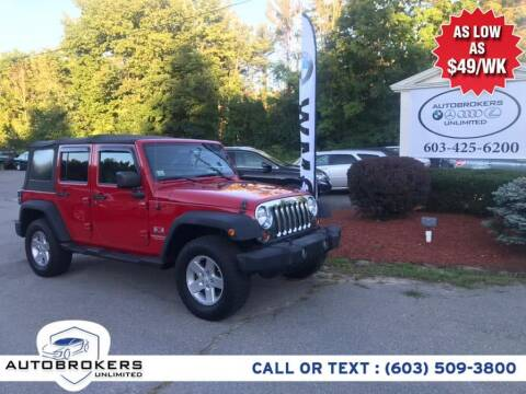 2009 Jeep Wrangler Unlimited for sale at Auto Brokers Unlimited in Derry NH