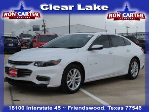 2018 Chevrolet Malibu for sale at Ron Carter  Clear Lake Used Cars in Houston TX
