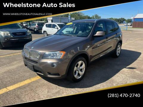 2011 BMW X3 for sale at Wheelstone Auto Sales in La Porte TX