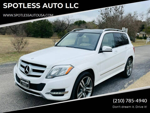 2015 Mercedes-Benz GLK for sale at SPOTLESS AUTO LLC in San Antonio TX