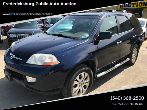 2003 Acura MDX for sale at FPAA in Fredericksburg VA