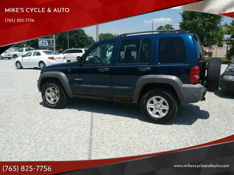 2004 Jeep Liberty for sale at MIKE'S CYCLE & AUTO in Connersville IN