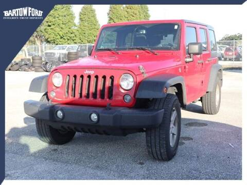2017 Jeep Wrangler Unlimited for sale at BARTOW FORD CO. in Bartow FL