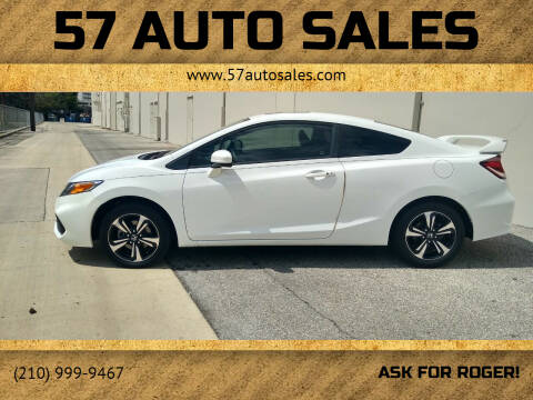 2014 Honda Civic for sale at 57 Auto Sales in San Antonio TX