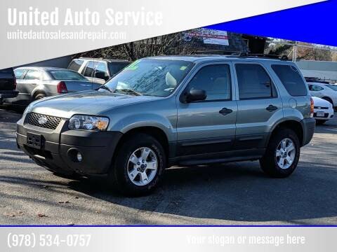 2007 Ford Escape for sale at United Auto Service in Leominster MA