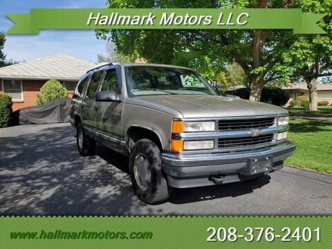 1999 Chevrolet Tahoe for sale at HALLMARK MOTORS LLC in Boise ID