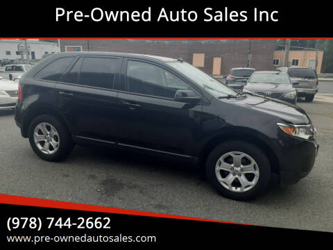 2012 Ford Edge for sale at Pre-Owned Auto Sales Inc in Salem MA
