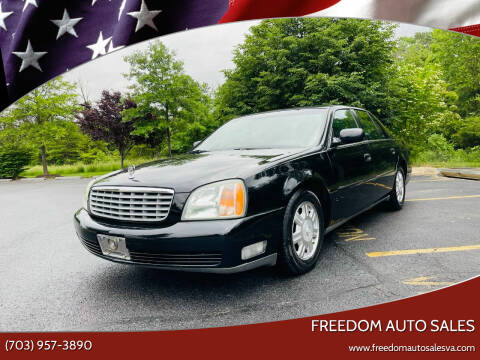 2002 Cadillac DeVille for sale at Freedom Auto Sales in Chantilly VA