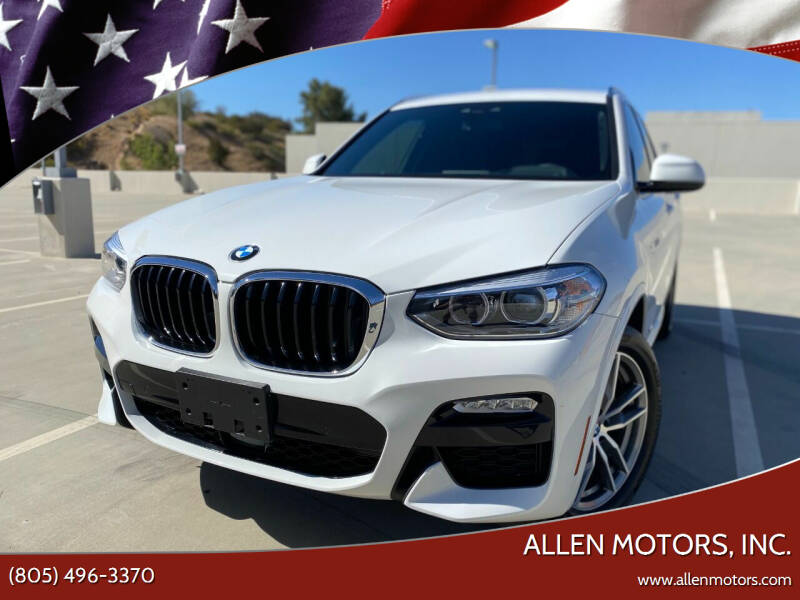 2018 BMW X3 for sale at Allen Motors, Inc. in Thousand Oaks CA