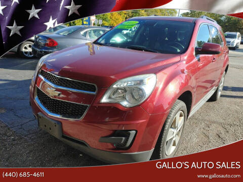 2012 Chevrolet Equinox for sale at Gallo's Auto Sales in North Bloomfield OH