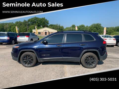 2016 Jeep Cherokee for sale at Seminole Auto Sales in Seminole OK